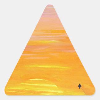 Fin de semana soleado pegatina triangular