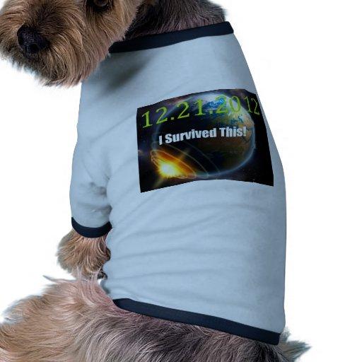 Fin del mundo camisetas de mascota