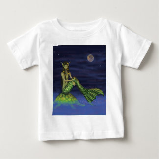 Fin Dipping Mermaid on Turtle Back Baby T-Shirt