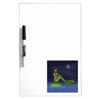 Fin Dipping Mermaid on Turtle Back Dry Erase Whiteboards