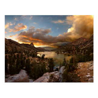 Fin Dome Middle Rae Lake Sunset - John Muir Trail Postcard