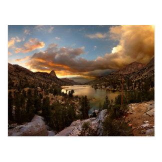 Fin Dome Middle Rae Lake Sunset - John Muir Trail Postcard