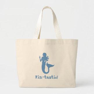 Fin-tastic! Large Tote Bag