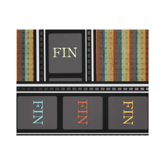 FIN (The End) Canvas Print