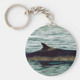 Fin whale key chain