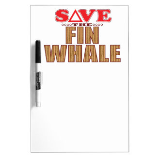 Fin Whale Save Dry-Erase Board