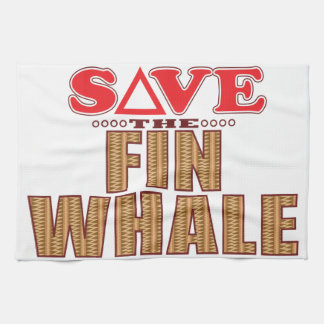 Fin Whale Save Hand Towel