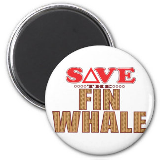 Fin Whale Save Magnet