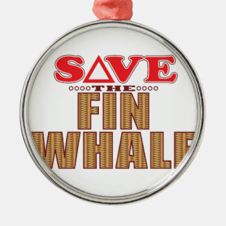 Fin Whale Save Metal Ornament