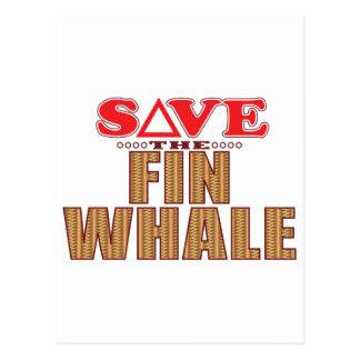 Fin Whale Save Postcard