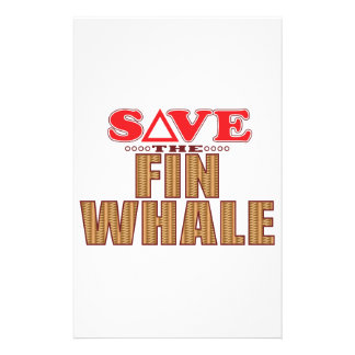 Fin Whale Save Stationery