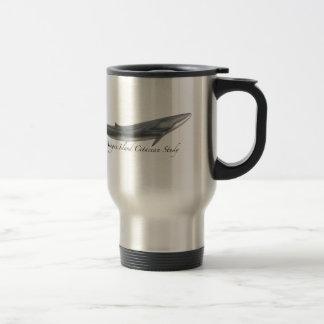 Fin whale travel mug