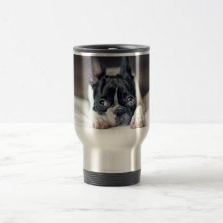 Fina the Boston Terrier Travel Mug
