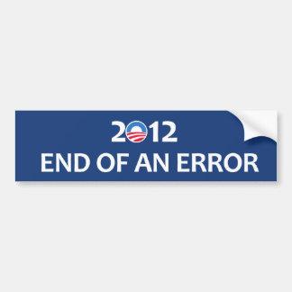 Final 2012 de un error etiqueta de parachoque