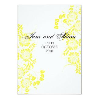 final amarillo del boda invitación 12,7 x 17,8 cm