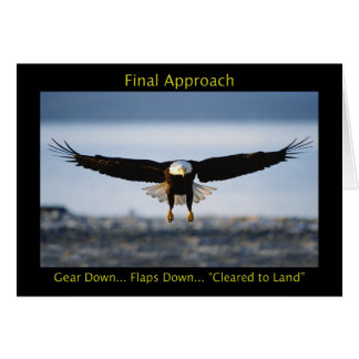 Final Approach Bald Eagle Greeting Card