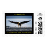 Final Approach Bald Eagle Large Postage Stamp