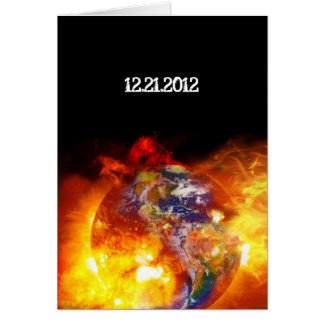 Final ardiente de la apocalipsis del mundo tarjeta de felicitación