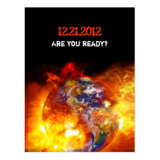 Final ardiente de la apocalipsis del mundo tarjetas postales
