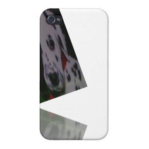 Final brillante manchado del caso del iphone del p iPhone 4 carcasa