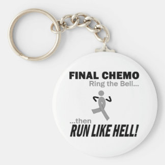 Final Chemo Run Like Hell - Brain Cancer / Tumor Basic Round Button Keychain