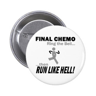 Final Chemo Run Like Hell - Brain Cancer / Tumor Button
