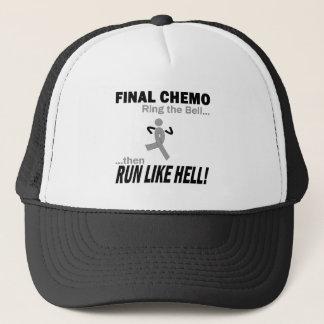 Final Chemo Run Like Hell - Brain Cancer / Tumor Trucker Hat