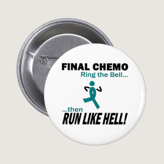 Final Chemo Run Like Hell - Cervical Cancer Button