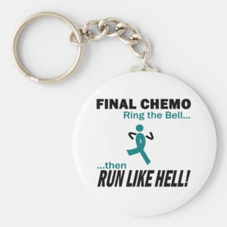 Final Chemo Run Like Hell - Cervical Cancer Basic Round Button Keychain