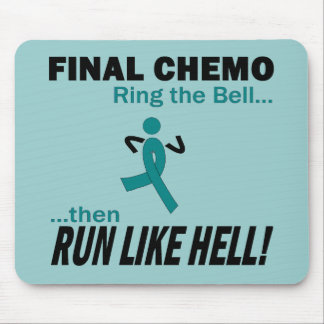Final Chemo Run Like Hell - Cervical Cancer Mouse Pad