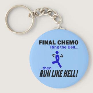 Final Chemo Run Like Hell - Colon Cancer Keychain