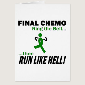 Final Chemo Run Like Hell - Kidney Cancer Card