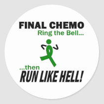 Final Chemo Run Like Hell - Kidney Cancer Classic Round Sticker