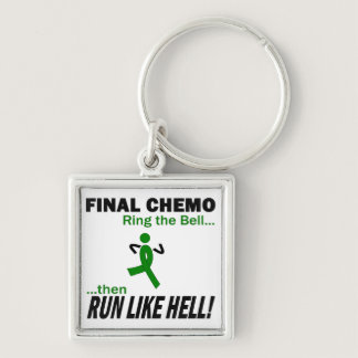 Final Chemo Run Like Hell - Kidney Cancer Keychain