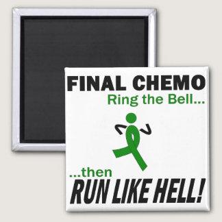 Final Chemo Run Like Hell - Kidney Cancer Magnet