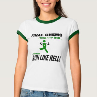Final Chemo Run Like Hell - Kidney Cancer T-Shirt
