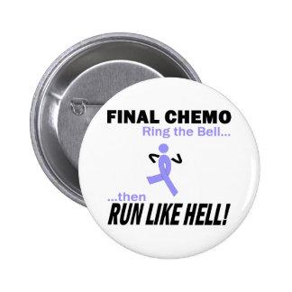 Final Chemo Run Like Hell - Lavender Ribbon Pinback Button