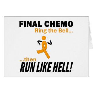 Final Chemo Run Like Hell - Leukemia Greeting Card