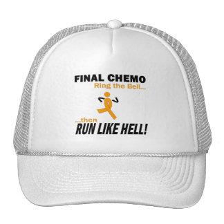 Final Chemo Run Like Hell - Leukemia Trucker Hats
