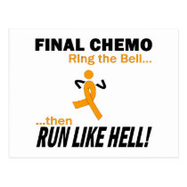 Final Chemo Run Like Hell - Leukemia Postcard