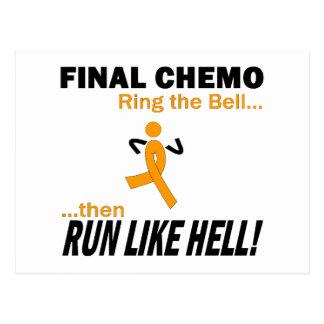 Final Chemo Run Like Hell - Leukemia Postcard