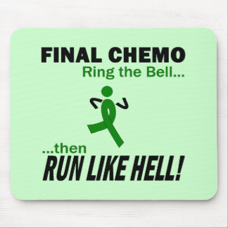 Final Chemo Run Like Hell - Liver Cancer Mouse Pad