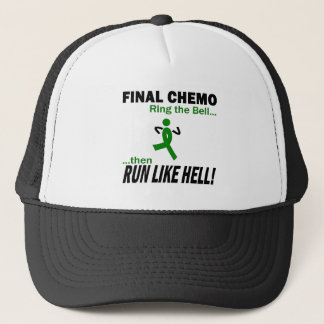 Final Chemo Run Like Hell - Liver Cancer Trucker Hat