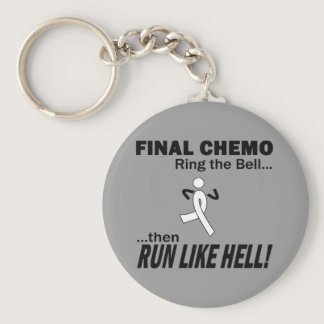 Final Chemo Run Like Hell - Lung Cancer Keychain