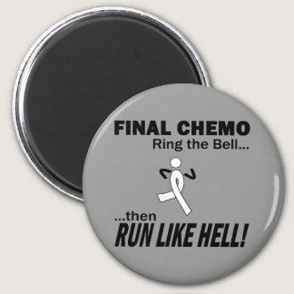 Final Chemo Run Like Hell - Lung Cancer Magnet