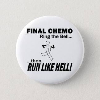 Final Chemo Run Like Hell - Lung Cancer Pinback Button