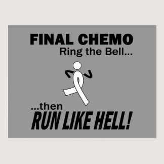 Final Chemo Run Like Hell - Lung Cancer Postcard