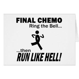 Final Chemo Run Like Hell - Melanoma Greeting Card