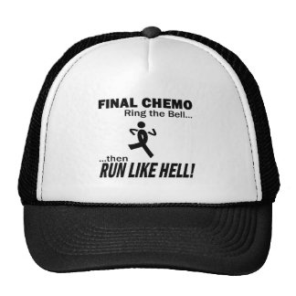 Final Chemo Run Like Hell - Melanoma Mesh Hats