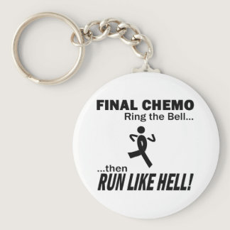 Final Chemo Run Like Hell - Melanoma Keychain